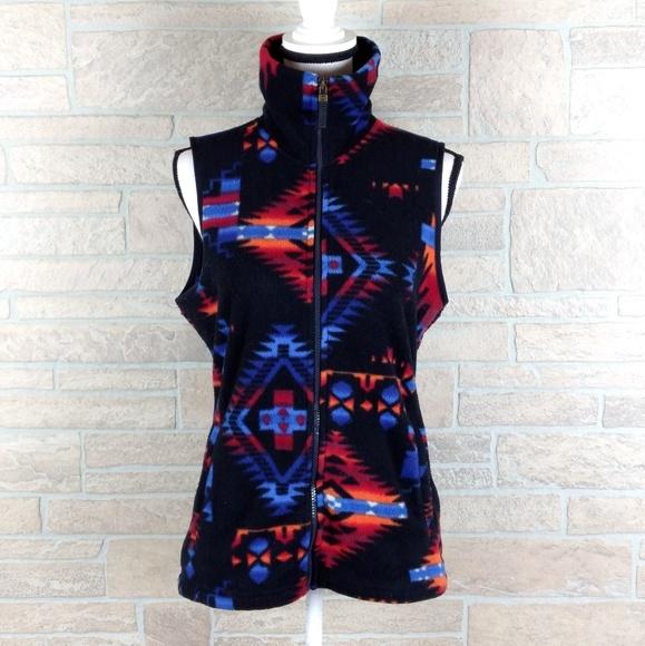 2ab3af1a3e3 Chaps Jackets   Blazers - CHAPS Fleece Vest Aztec Indian Design
